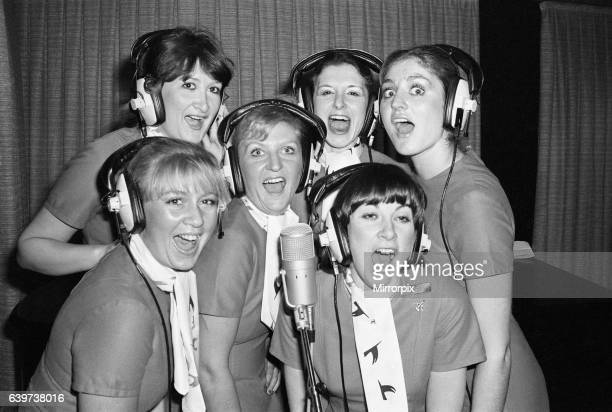 Six Laker stewardesses make a record dedicated to Freddie Laker called 'Let Us Fly' The record is being rush released on red Bus records and part of...