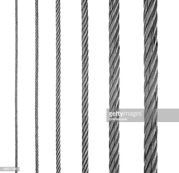 Six lines of metal fiber in a row
