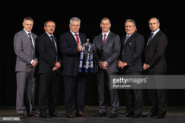 Six Nations Head Coaches Joe Schmidt of Ireland Jacques Brunel of Italy Warren Gatland of Wales Stuart Lancaster of England Scott Johnson of Scotland...