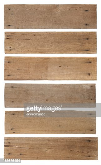 Six old weathered wood boards.
