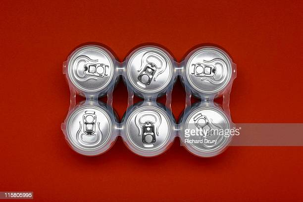 Six pack of beer cans