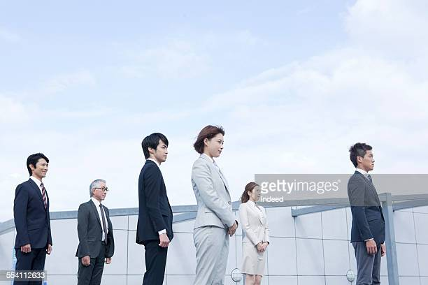 Six people standing
