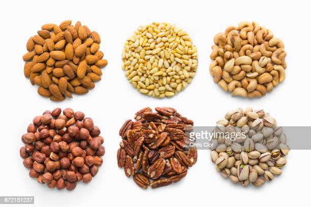 Six piles of nuts