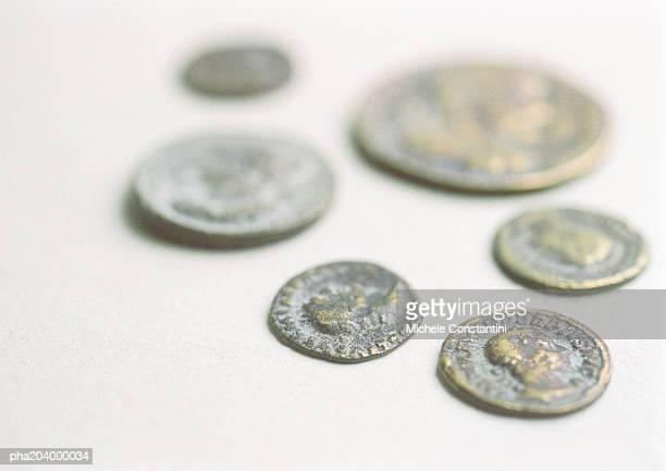 Six rare coins.