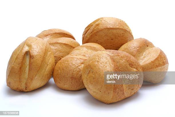 six sourdough rolls