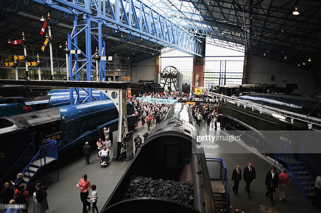 Six steam locomotives come together for the first time at the National Railway Museum on July 3, 2013 in York, England. The National Railway Museum's 'Great Gathering' marks 75 years since the world's fastest steam locomotive, Mallard, made its world record breaking run in 1938, and reunites the locomotive with its five sister locomotives, the Sir Nigel Gresley, Dwight D Eisenhower, Union of South Africa, Bittern and the Dominion of Canada