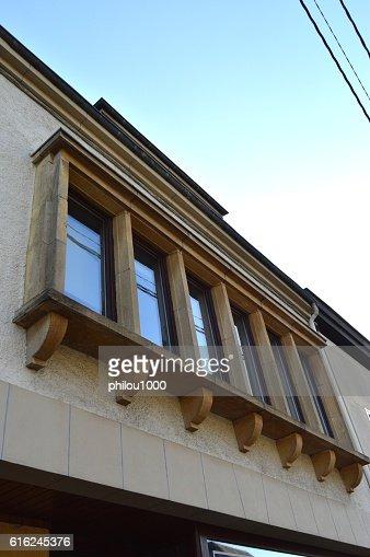 Six windows of facade. : Foto de stock
