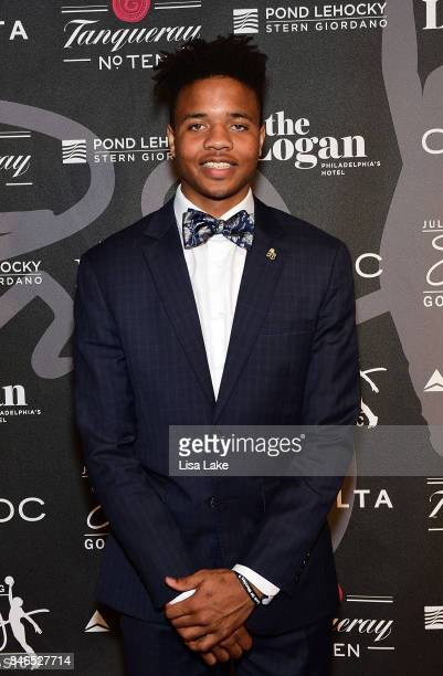 Sixers NBA Star Player Markelle Fultz attends the Erving Golf Classic Black Tie Ball sponsored by Delta Airlines Pond LeHocky Law with cocktails...