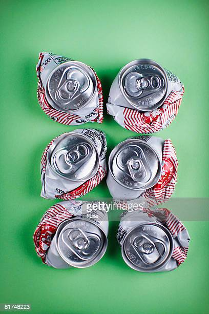 Six-Pack of Crushed Cans
