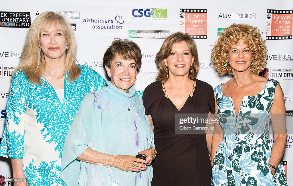 Six-time Emmy award winning television Host, Writer, and Producer Nancy Glass, journalist <a gi-track='captionPersonalityLinkClicked' href=/galleries/search?phrase=Marjorie+Margolies&family=editorial&specificpeople=8580571 ng-click='$event.stopPropagation()'>Marjorie Margolies</a>, CBS3 Health Reporter Stephanie Stahl and Executive Director of the Greater Philadelphia Film Office Sharon Pinkenson attend the 'Alive Inside' screening at Kimmel Center for the Performing Arts on July 15, 2014 in Philadelphia, Pennsylvania.