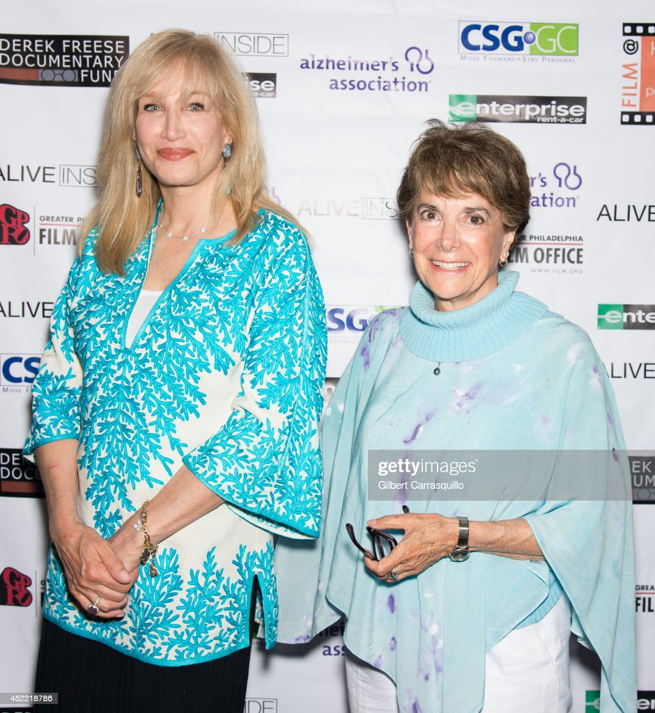 Six-time Emmy award winning television Host, Writer, and Producer Nancy Glass and journalist <a gi-track='captionPersonalityLinkClicked' href=/galleries/search?phrase=Marjorie+Margolies&family=editorial&specificpeople=8580571 ng-click='$event.stopPropagation()'>Marjorie Margolies</a> attend the 'Alive Inside' screening at Kimmel Center for the Performing Arts on July 15, 2014 in Philadelphia, Pennsylvania.