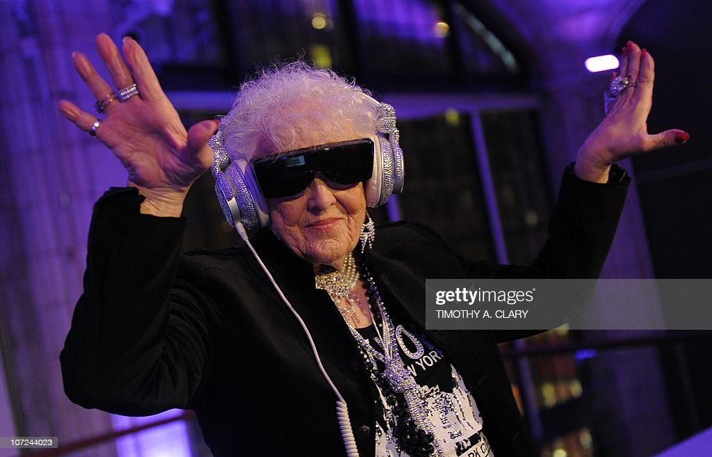 Sixty-nine year-old English deejay <a gi-track='captionPersonalityLinkClicked' href=/galleries/search?phrase=Ruth+Flowers&family=editorial&specificpeople=5862454 ng-click='$event.stopPropagation()'>Ruth Flowers</a> aka DJ Mamy Rock from Bristol, England performs in her first New York appearance at the Carter Burden Center for the Aging's 31st Annual Dinner Dance and Awards Ceremony at Guastavino's in New York November 29, 2010. Flowers, a grandmother, is taking the European dance club circuit by storm.