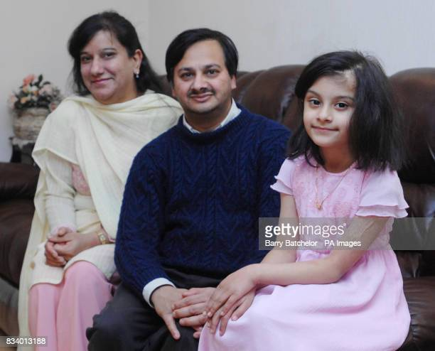 Sixyearold Sidra Afzal at her home in FleurdeLys near Blackwood South Wales with her parents Mohammed and Saba Afza after a treatment successfully...
