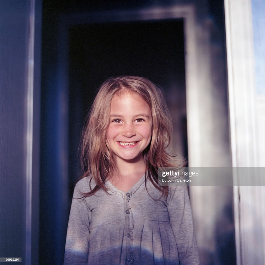 Six-year-old smiling girl : Stock Photo