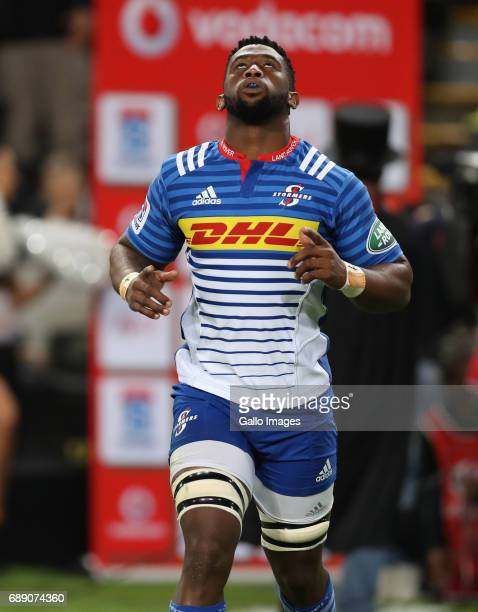 Siya Kolisi of the DHL Stormers during the Super Rugby match between Cell C Sharks and DHL Stormers at Growthpoint Kings Park on May 27 2017 in...