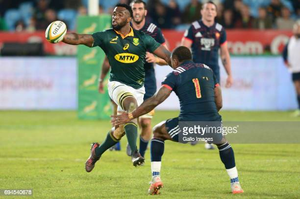 Siya Kolisi of the Springboks during the Castle Lager Incoming Series 1st Test between South Africa and France at Loftus Versfeld on June 10 2017 in...