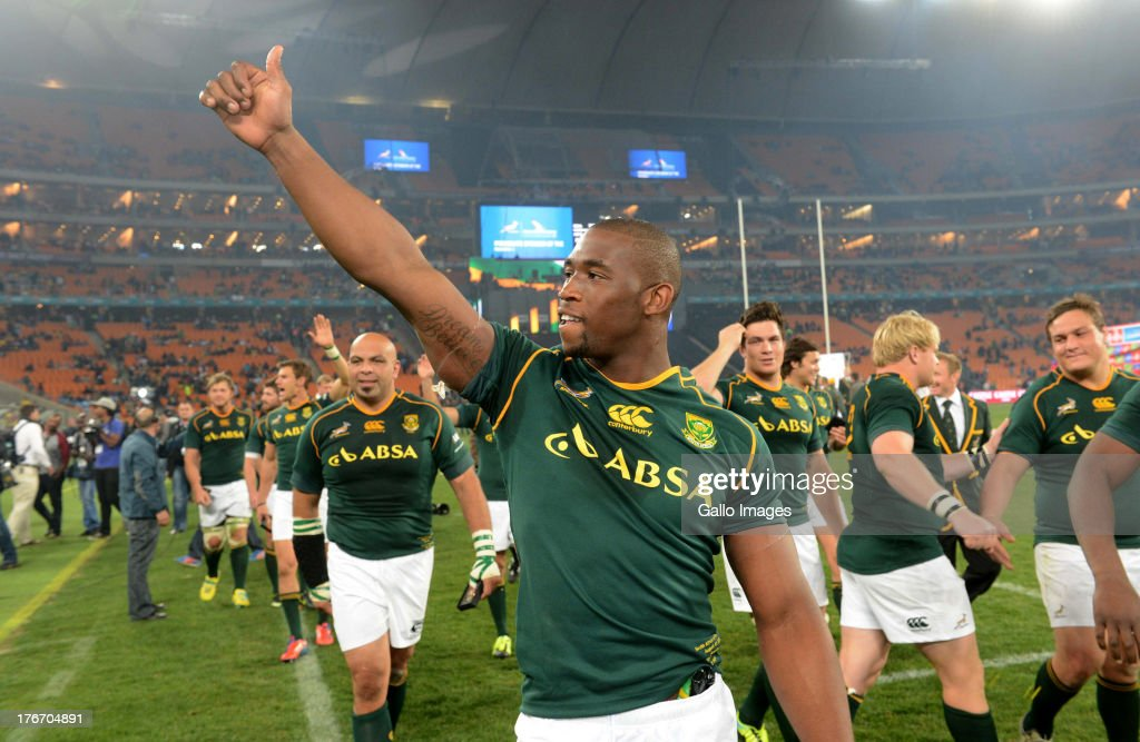 Siya Kolisi of the Springboks during the Castle Rugby Championship match between South Africa and Argentina at FNB Stadium on August 17, 2013 in Soweto, South Africa.