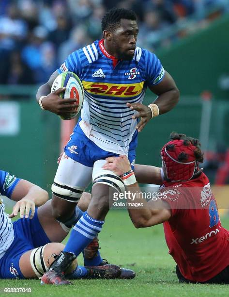 Siya Kolisi of the Stormers during the Super Rugby match between DHL Stormers and Emirates Lions at DHL Newlands on April 15 2017 in Cape Town South...