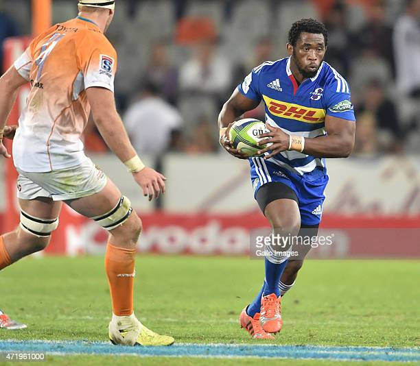 Siya Kolisi of the Stormers during the Super Rugby match between Toyota Cheetahs and DHL Stormers at Free State Stadium on May 02 2015 in...