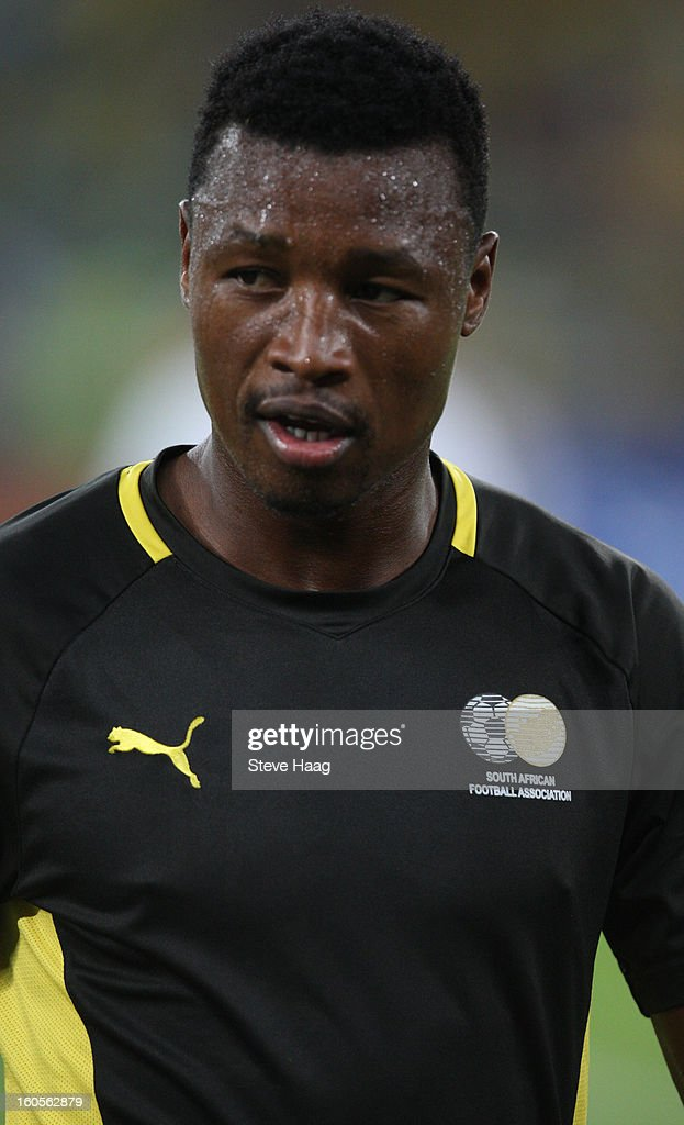 Siyabonga Sangweni of South Africa during the 2013 African Cup of Nations Quarter-Final match between South Africa and Mali at Moses Mahbida Stadium on February 2, 2013 in Durban, South Africa.
