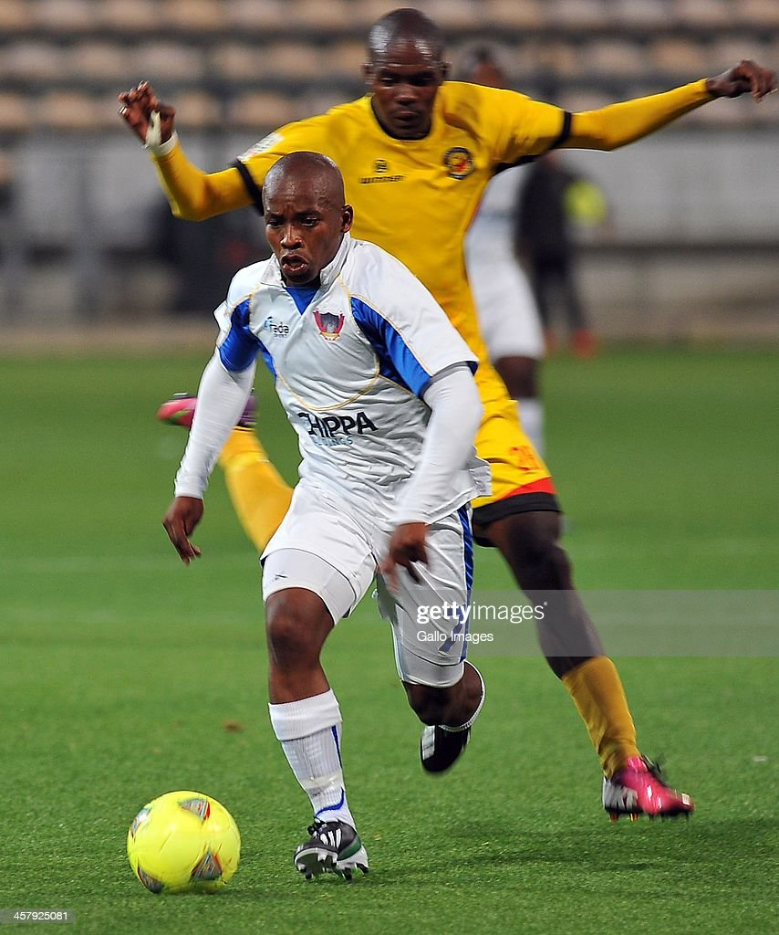 Siyabulela Shi of Chippa United in action during the National First Division Qualification match between Santos and Chippa United at Athlone Stadium on December 18, 2013 in Cape Town, South Africa.