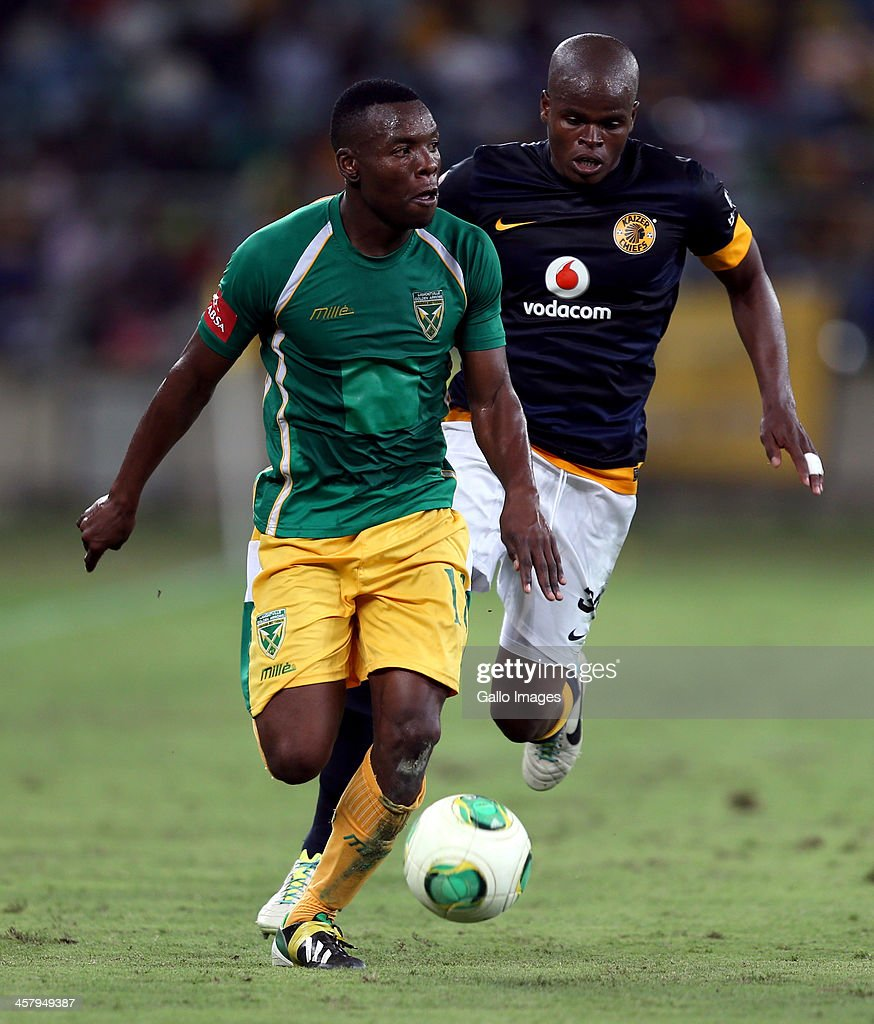 Siyanda Zwane of Lamontville Golden Arrows during the Absa Premiership match between Golden Arrows and Kaizer Chiefs at Moses Mabhida Stadium on December 19, 2013 in Durban, South Africa.