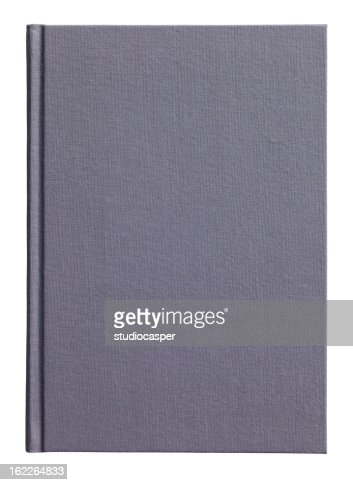 A4 sized black hardback book, showing clipping path