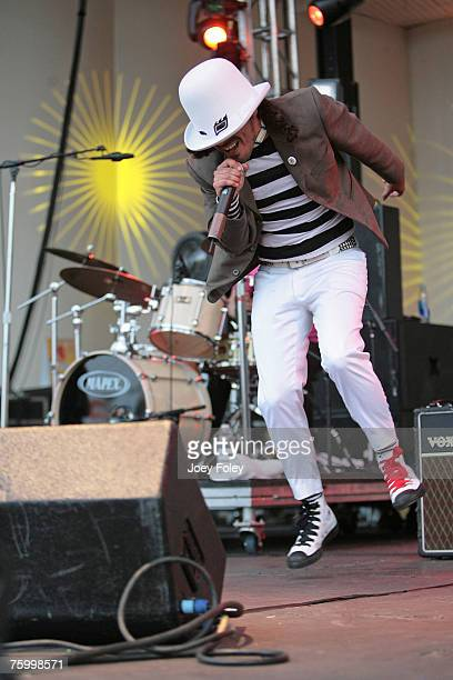 Sizu Yantra of Cafe Tacuba performs at Lollapalooza 2007 in Grant Park on August 5 2007 in Chicago Illinois
