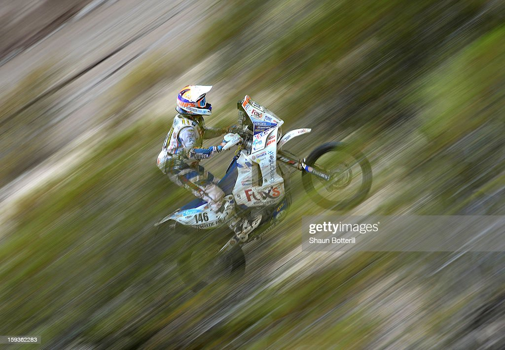 Sjaak Martens of Team Equipe Knuiman competes in Stage 8 from Salta to Tucuman during the 2013 Dakar Rally on January 12, 2012 in Salta, Argentina.