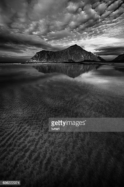 Skagsanden Beach in Lofoten, Norway