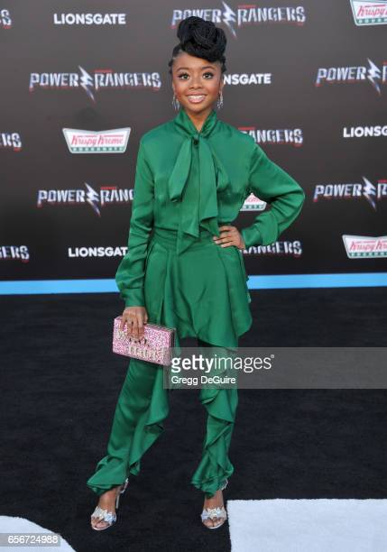 Skai Jackson arrives at the premiere of Lionsgate's 'Power Rangers' at The Village Theatre on March 22 2017 in Westwood California