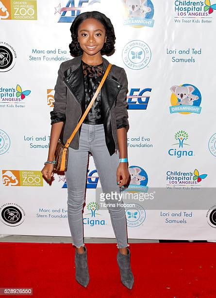 Skai Jackson attends Dreamnight at The Los Angeles Zoo at Los Angeles Zoo on May 6 2016 in Los Angeles California