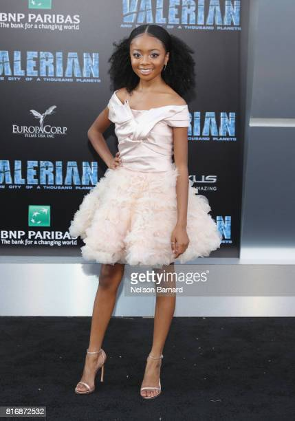 Skai Jackson attends the premiere of EuropaCorp and STX Entertainment's 'Valerian and The City of a Thousand Planets' at TCL Chinese Theatre on July...