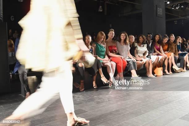 Skai Jackson Larsen Thompson Iskra Lawrence Michaell Johnson Odile Gilbert Alfre Woodard and J Alexander attend the Badgley Mischka fashion show...