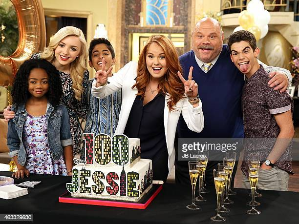 Skai Jackson Peyton List Karan Brar Debby Ryan Kevin Chamberlin and Cameron Boyce attend Disney Channel's 100 episode celebration for 'Jessie' at...