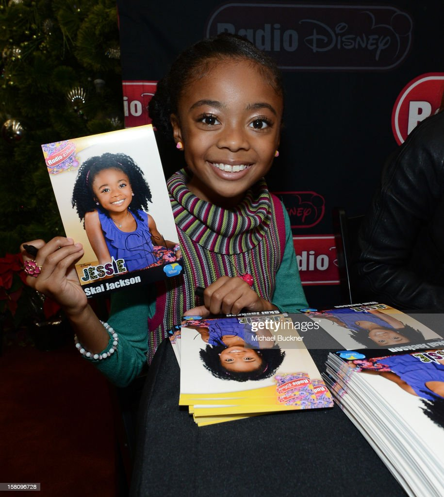 Skai Jackson star of the hit series 'Kickin' It' gets signs autographs for Radio Disney AM 1110 fans at the Wii U Showdown at Westfield Century City Mall in Los Angeles on December 9, 2012. Wii U is one of Nintendo's hottest items of the holiday season.