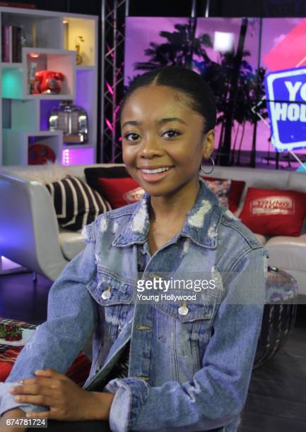 Skai Jackson visits the Young Hollywood Studio on April 28 2017 in Los Angeles California