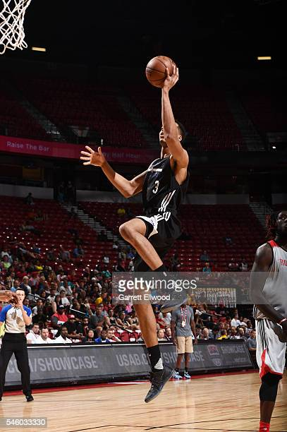 Skal Labissiere of Sacramento Kings shoots the ball against the Houston Rockets during 2016 Summer League on July 10 2016 at the Thomas Mack Center...