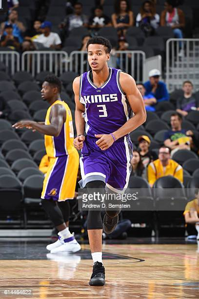 Skal Labissiere of the Sacramento Kings is seen during the game against the Los Angeles Lakers on October 13 2016 at the TMobile Arena in Las Vegas...