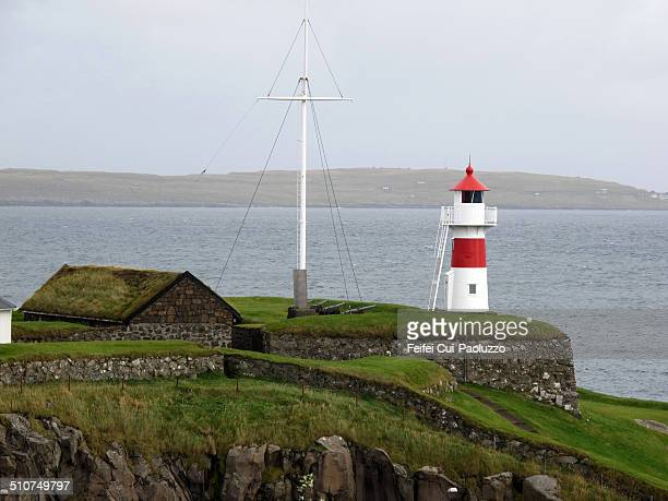 Skansin fort lighthouse of Torshavn, Streymoy Island, Faroe Islands