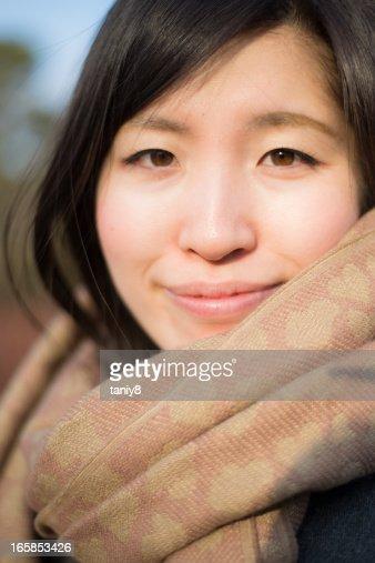 Skarf girl : Stock Photo