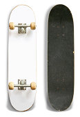 Blank Skateboard top and Bottom - Clipping Path