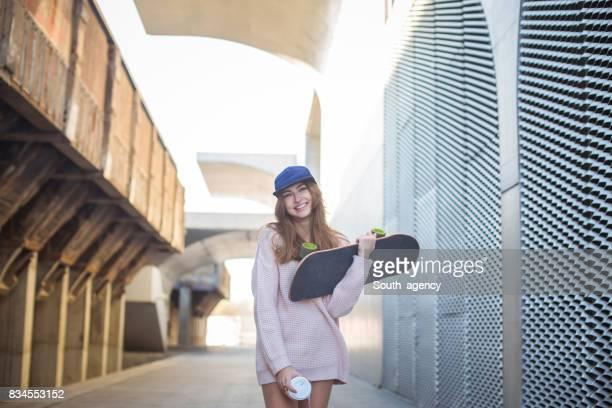 Skateboard and coffee