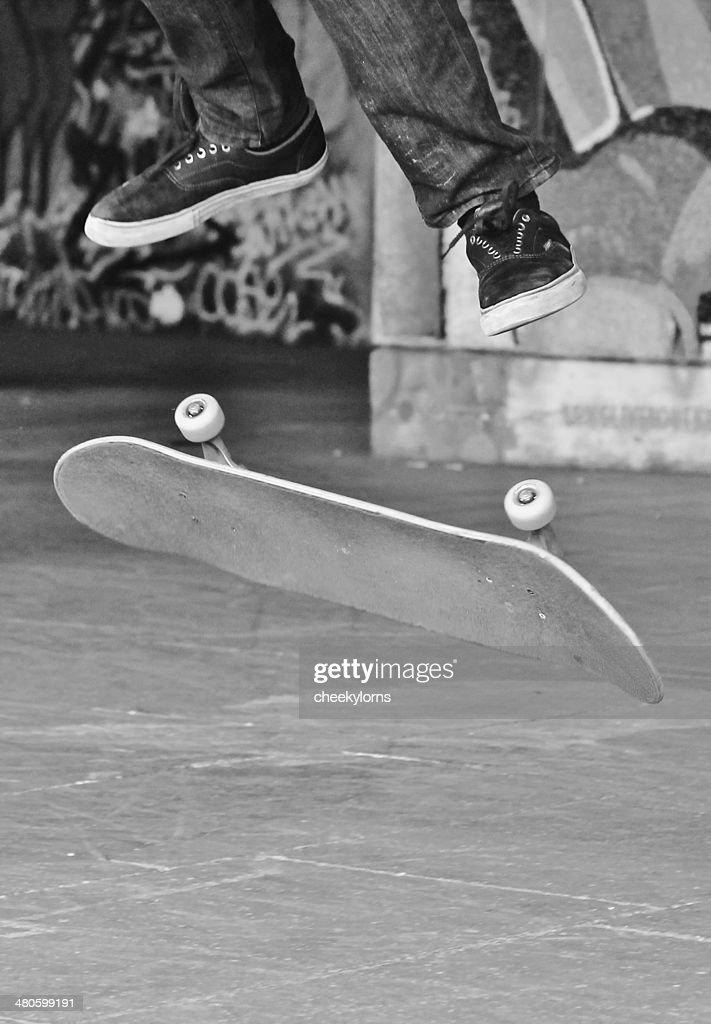 skateboard teen friends in graffiti skate park skateboarding : Stock Photo
