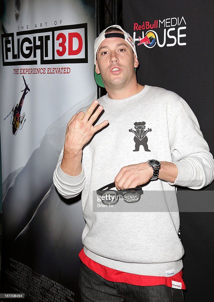 Skateboarder Brandon Biebel attends The Art of Flight 3D - Los Angeles screening at AMC Criterion 6 on November 29, 2012 in Santa Monica, California.