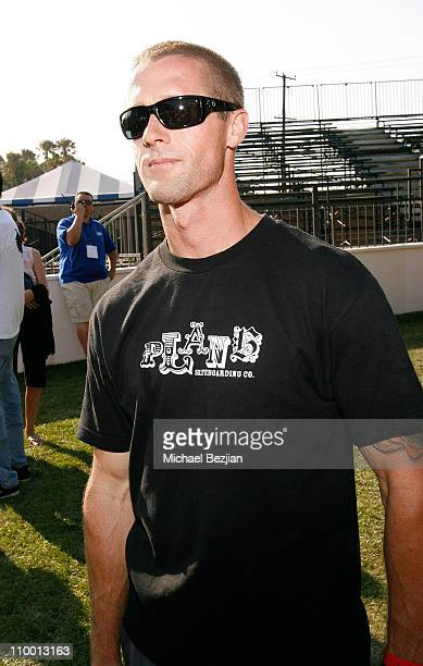 Skateboarder Danny Way attends the Maloof Money Cup Skateboarding Championship at Orange County Fair Grounds on July 13 2008 in Costa Mesa California