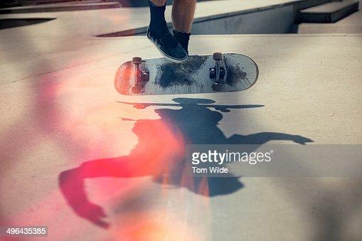 Skateboarder doing an Ollie