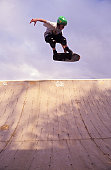 Skateboarder Flying in the Air