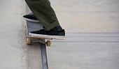 Skateboarding at Venice Skate Park at Venice Beach, Los Angeles California