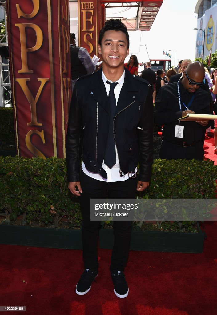 Skateboarder <a gi-track='captionPersonalityLinkClicked' href=/galleries/search?phrase=Nyjah+Huston&family=editorial&specificpeople=4631045 ng-click='$event.stopPropagation()'>Nyjah Huston</a> attends The 2014 ESPYS at Nokia Theatre L.A. Live on July 16, 2014 in Los Angeles, California.